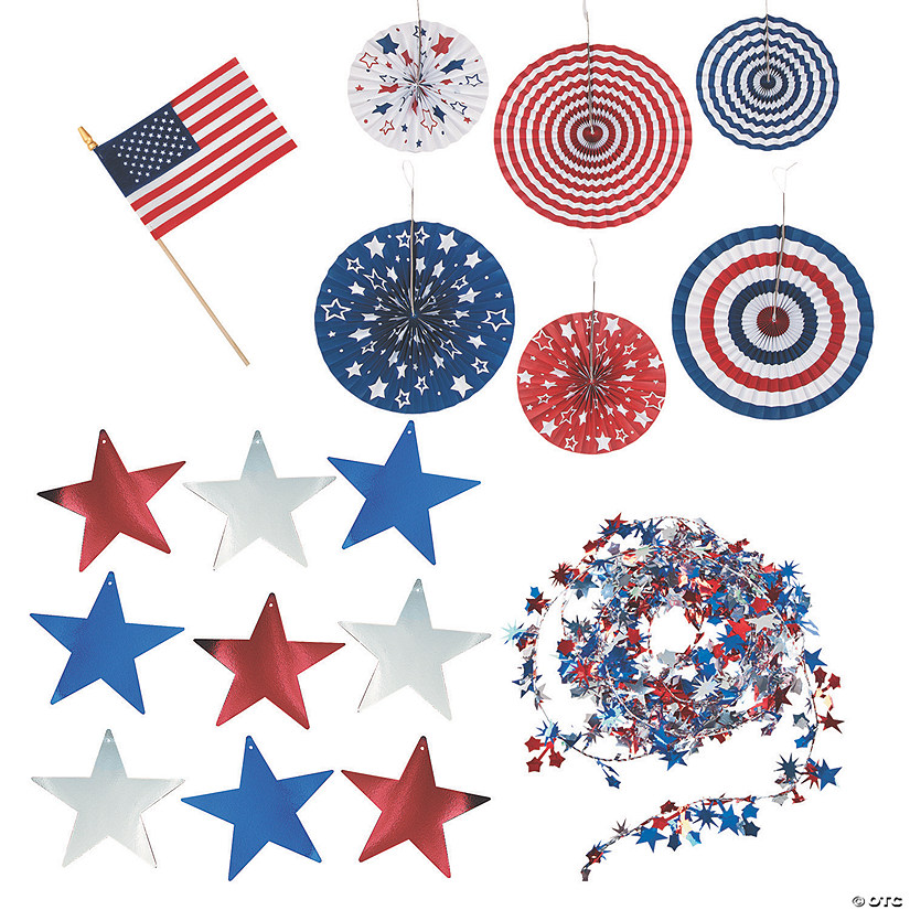 Patriotic Bicycle Decorating Boredom Buster Kit Image Thumbnail