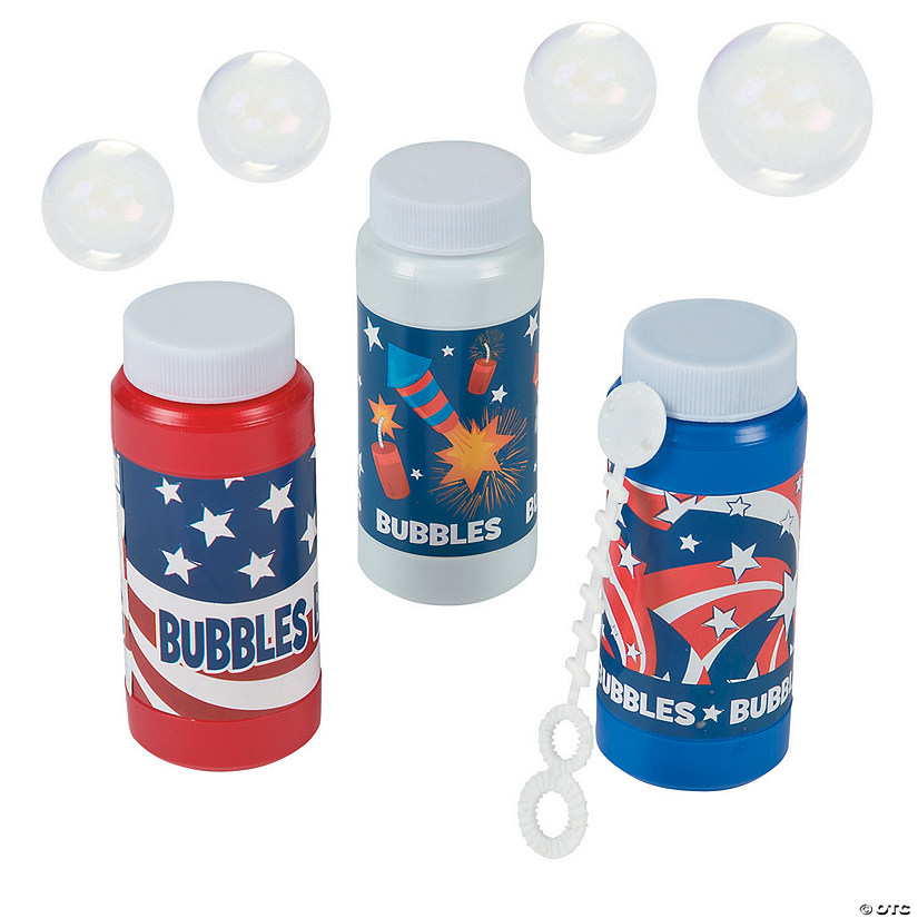 Patriotic Bubble Bottles - 12 Pc. Image Thumbnail