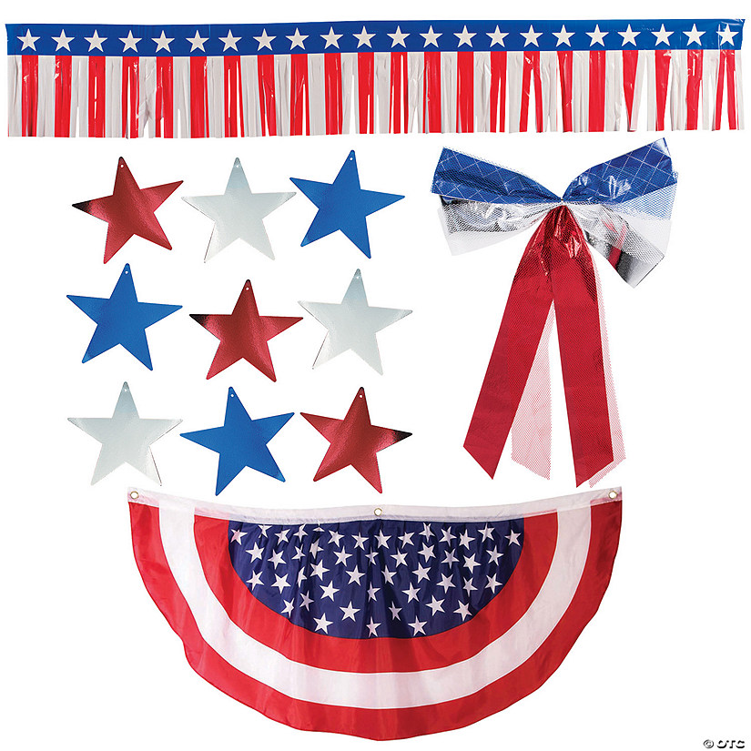 Patriotic Bunting Car Parade Decorating Kit Image Thumbnail