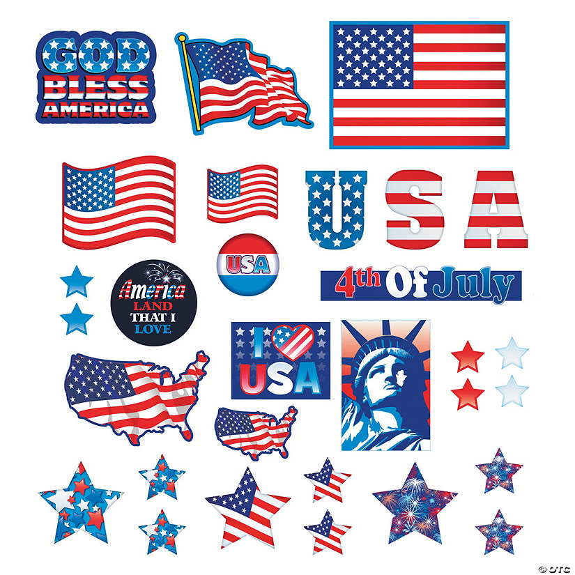 Patriotic Cutouts Mega Pack