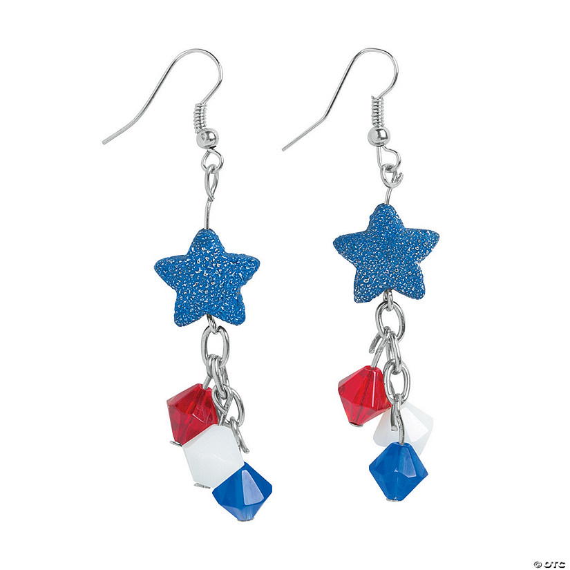Patriotic Firework Earrings Craft Kit