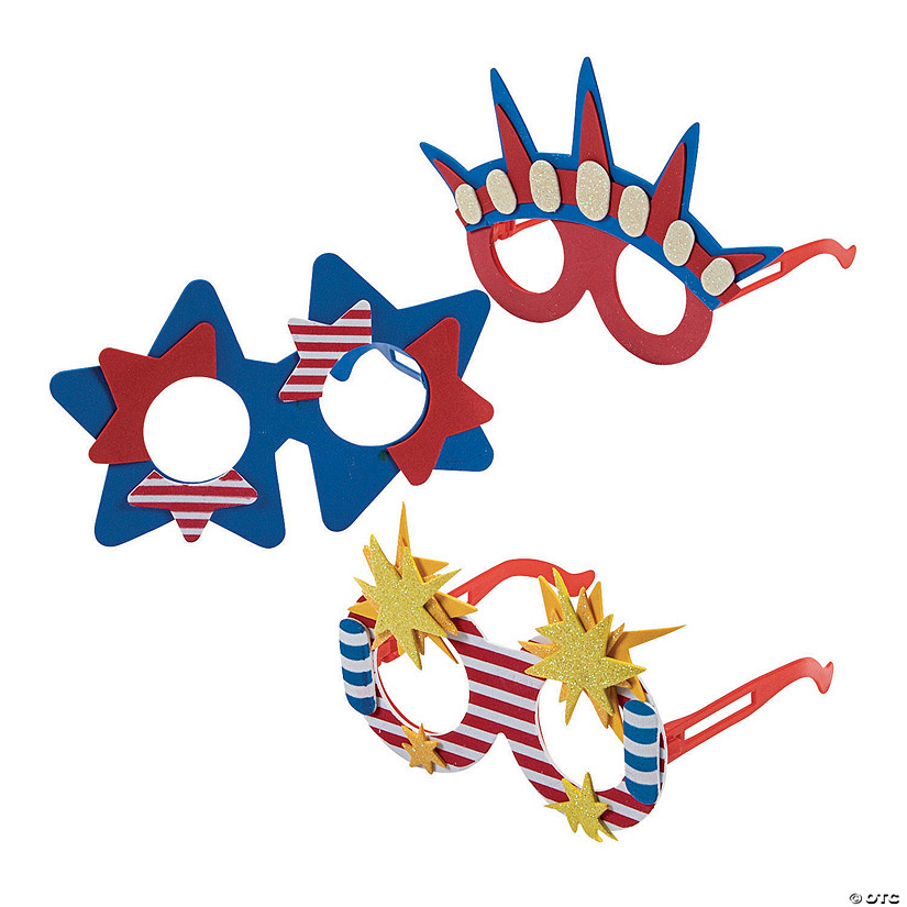 Patriotic Foam Glasses - 12 Pc. Audio Thumbnail