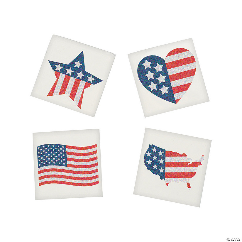 Patriotic Glitter Flag Tattoo Assortment Audio Thumbnail