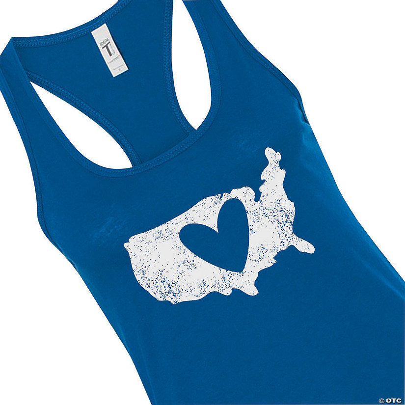 Patriotic Heart Women's Racerback Tank Audio Thumbnail