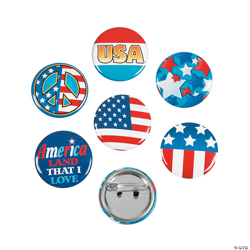 Patriotic Mini Buttons