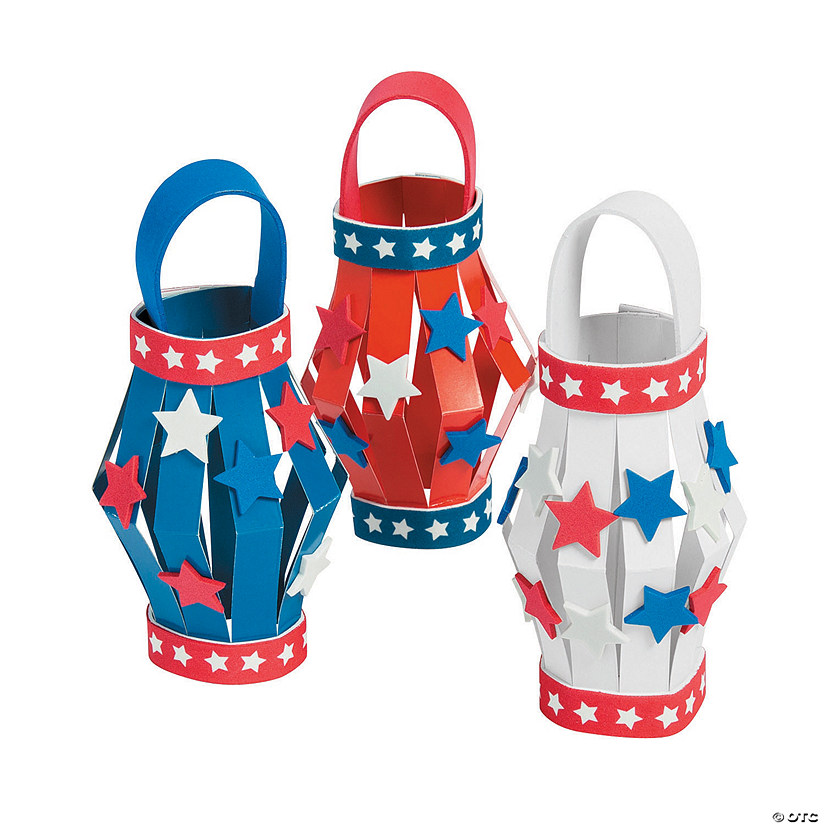 Patriotic Paper Lanterns Kit
