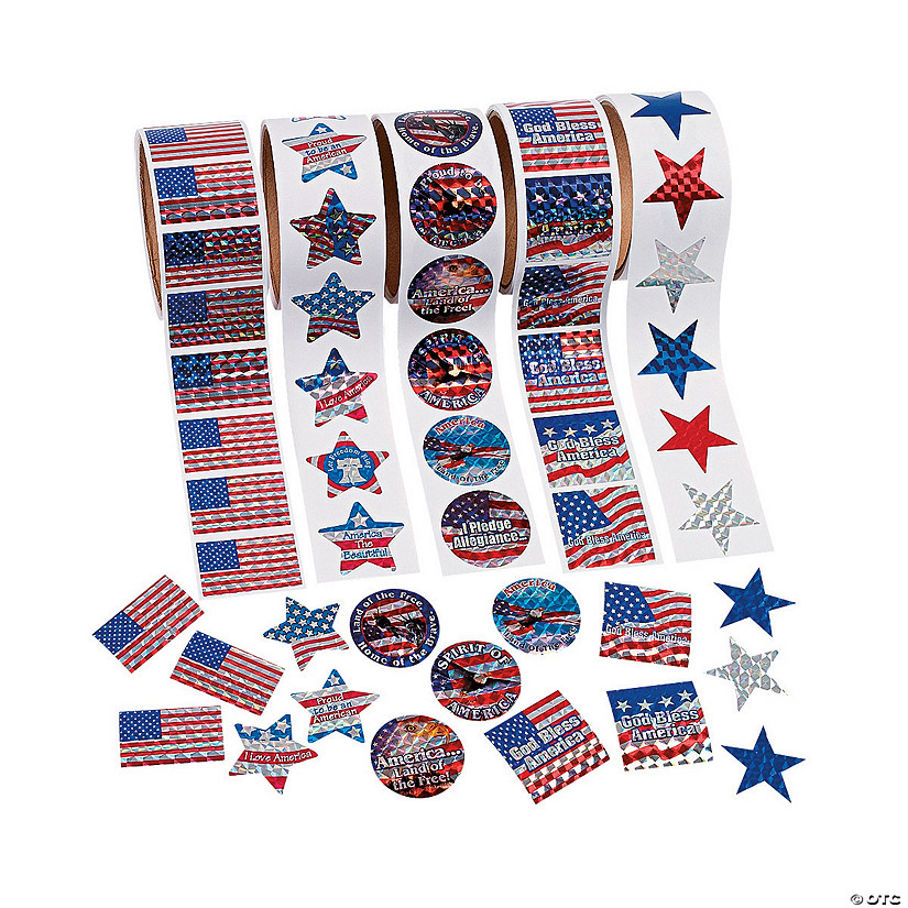 Patriotic Rolls of Stickers Assortment Audio Thumbnail