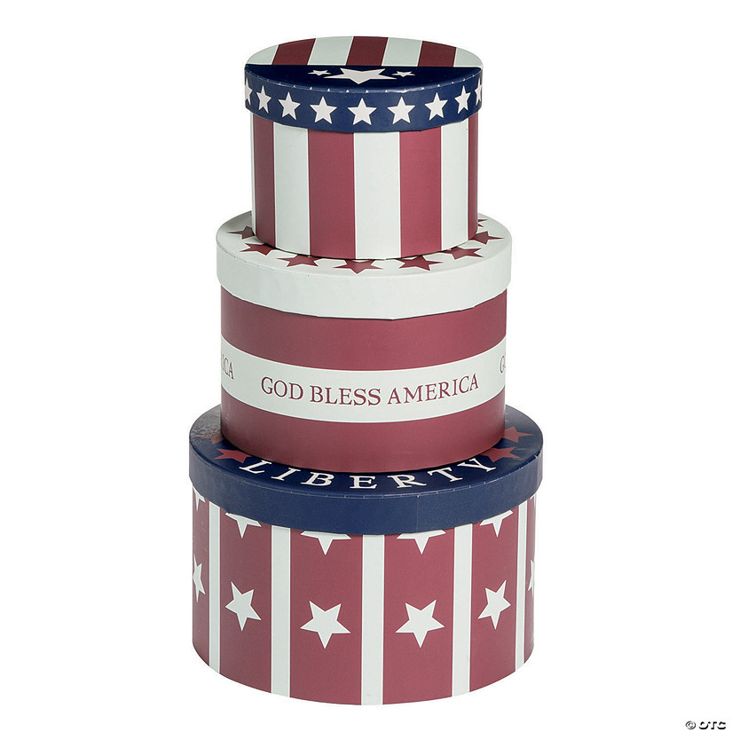 Patriotic Stacking Boxes