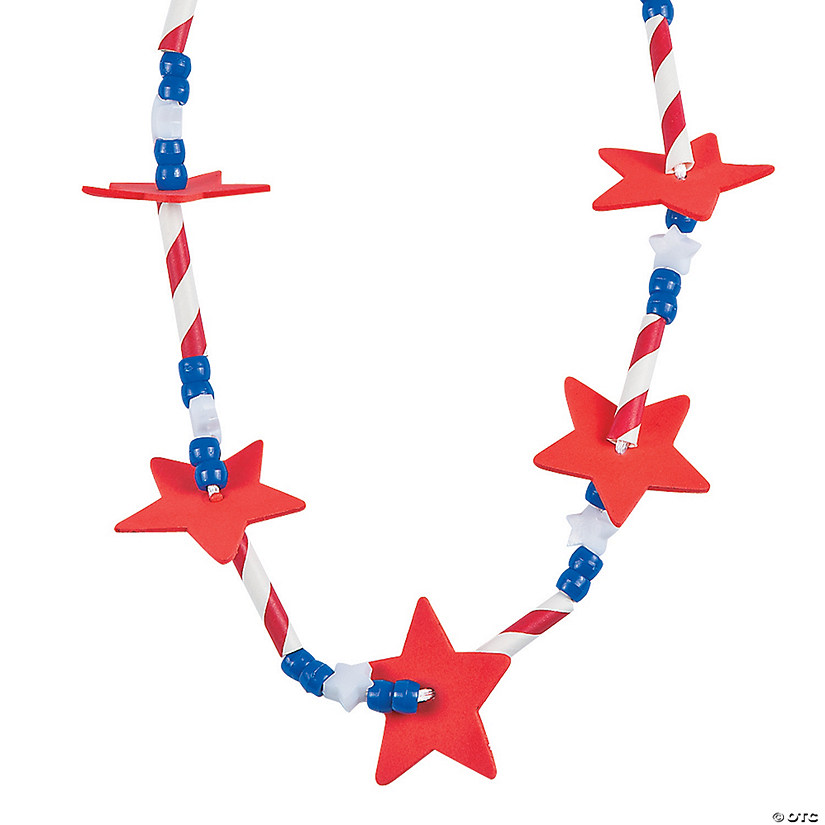 Patriotic Star Straw Necklace Craft Kit Audio Thumbnail