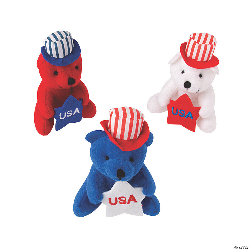 Patriotic Stuffed Bears