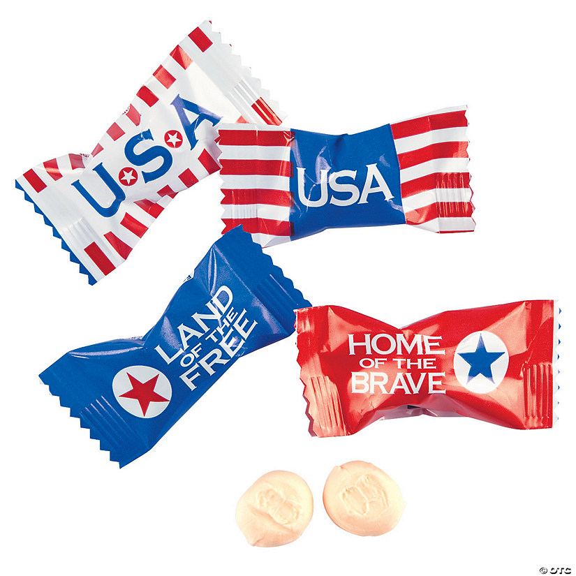 Patriotic Sweet Creams Hard Candy