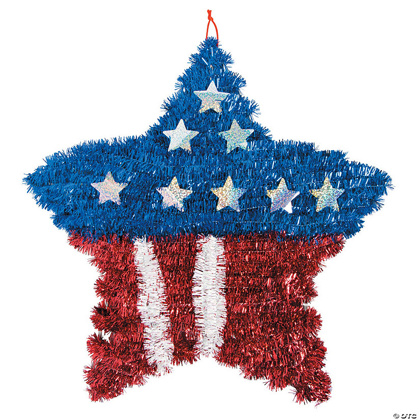 Patriotic Tinsel Star Wreath