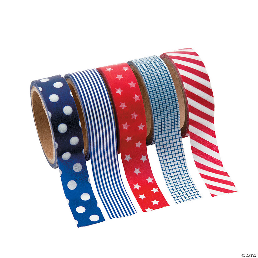 Patriotic Washi Tape Set Image Thumbnail