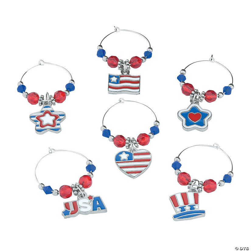 Patriotic Wine Charms Craft Kit Image Thumbnail