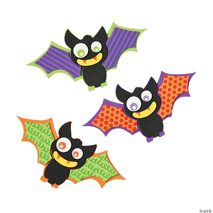 Patterned Bat Magnet Craft Kit Image Thumbnail