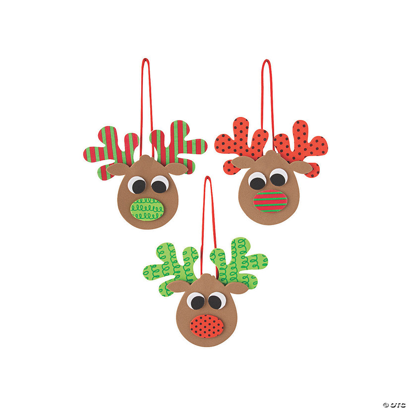 Patterned Reindeer Ornament Craft Kit Audio Thumbnail