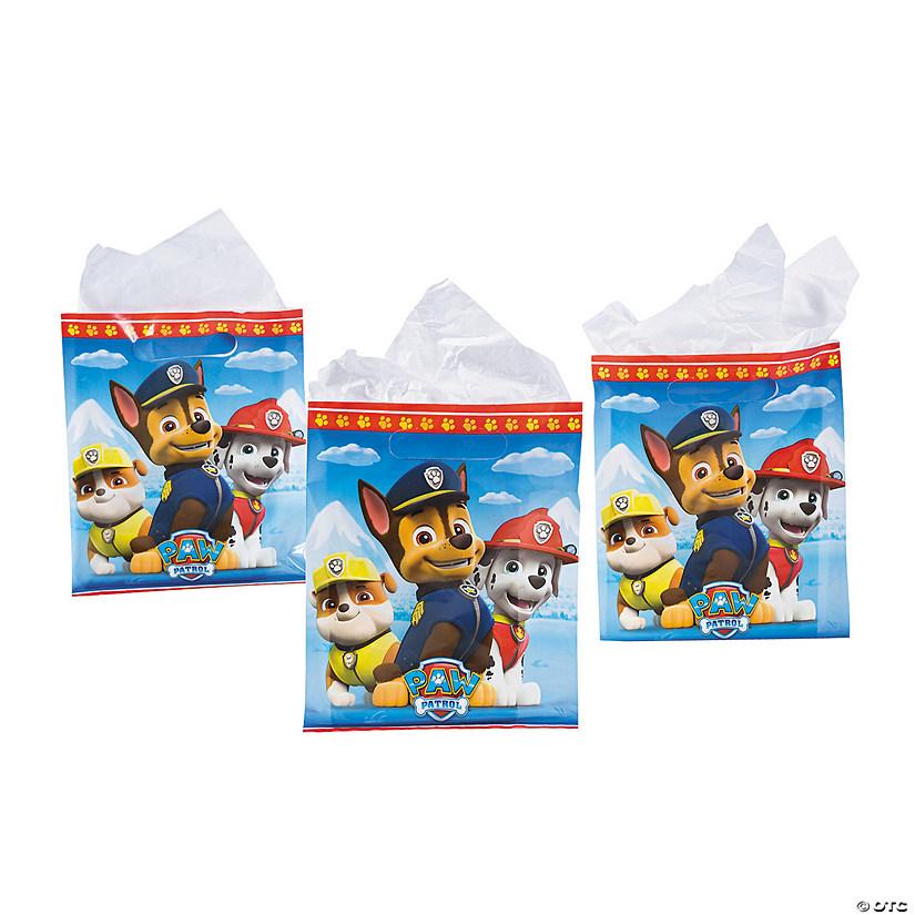 ~ Birthday Party Supplies Plastic Treat Loot Goody 8 PAW PATROL FAVOR BAGS