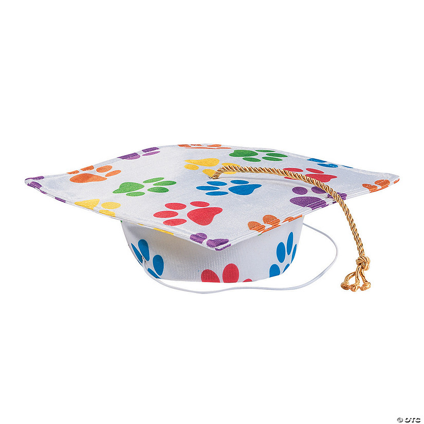 Paw Print Mortarboard Hat