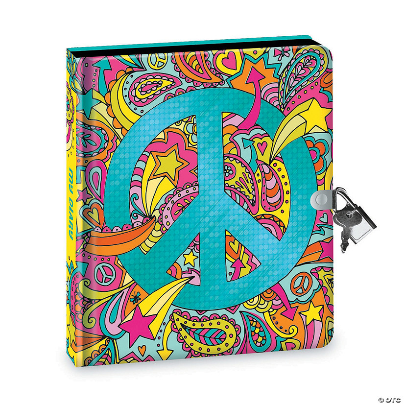 Peace Sign Black Page Diary Image Thumbnail