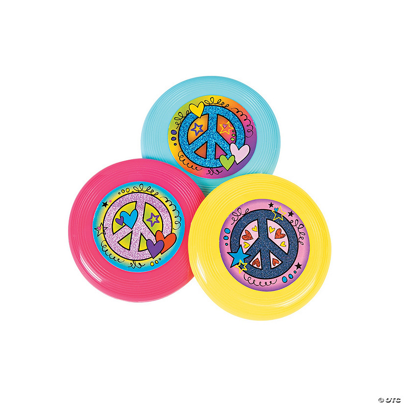 Peace Sign Mini Flying Discs