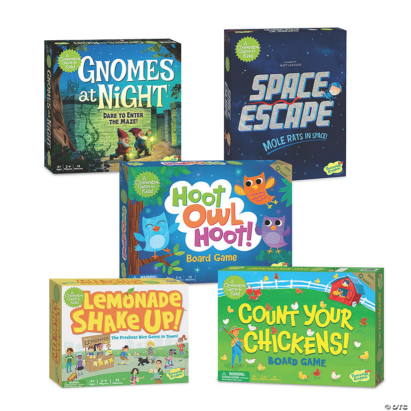 Peaceable Kingdom Games: Set of 5