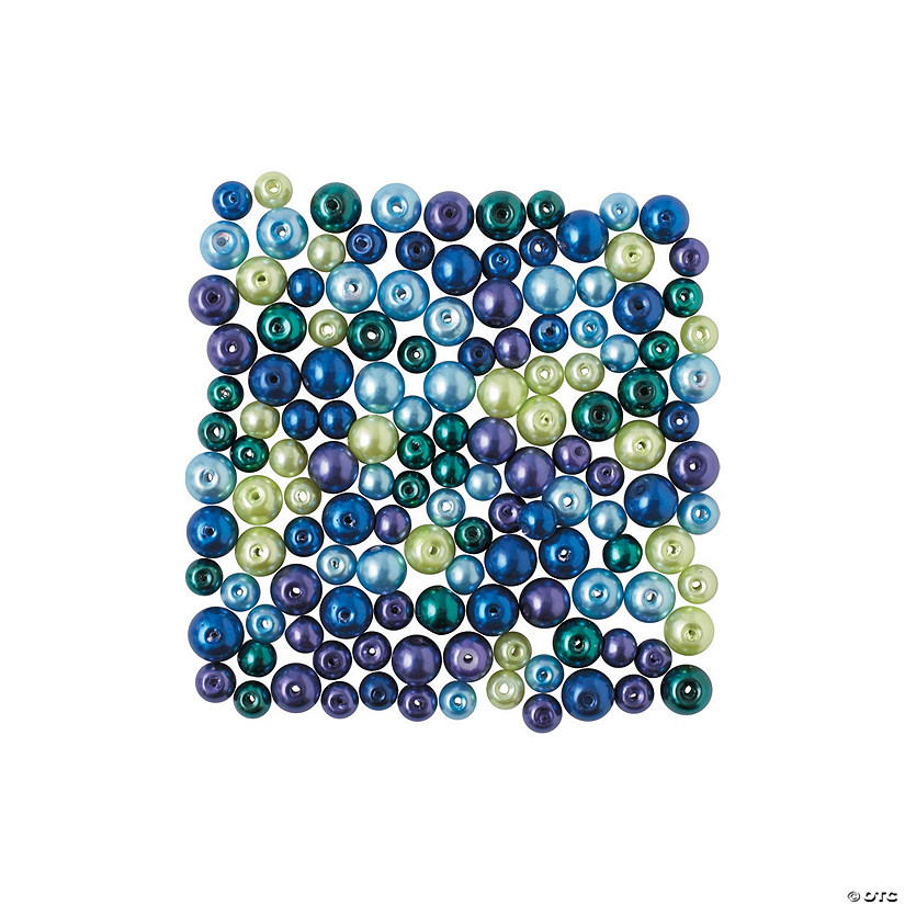 Peacock Pearl Bead Assortment - 6mm - 12mm