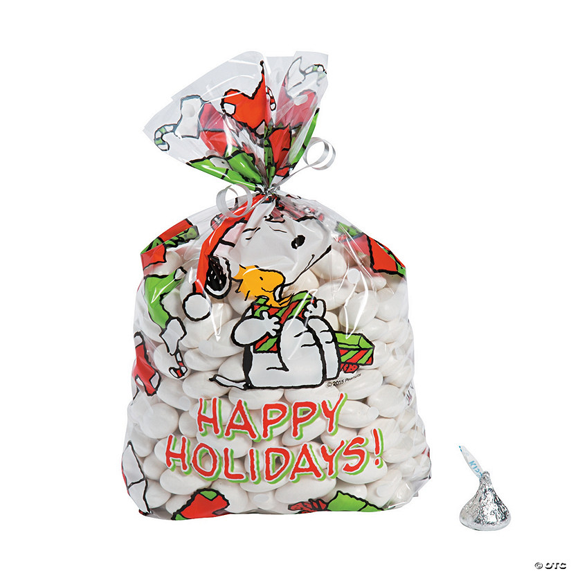 peanuts christmas cellophane bags