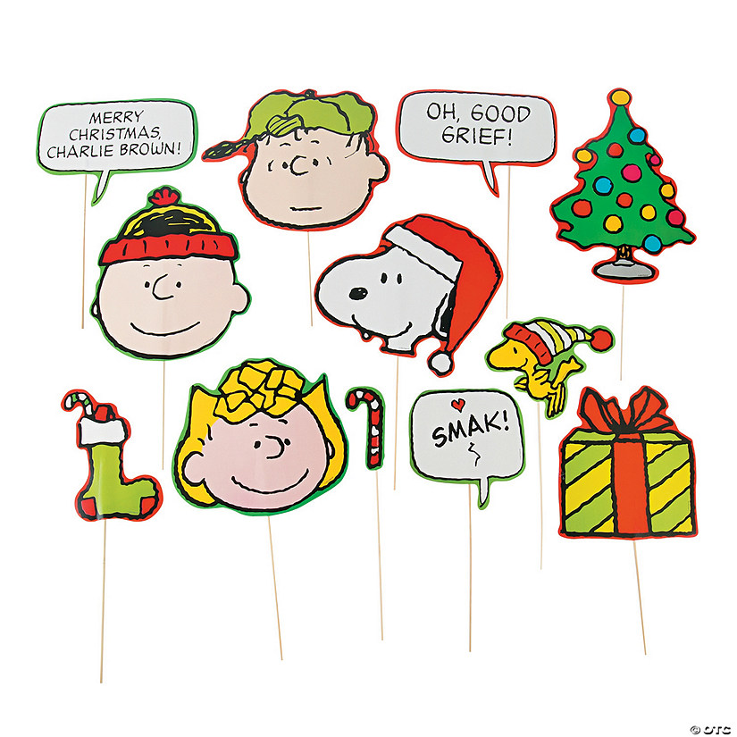 peanuts christmas photo stick props - Peanuts Christmas