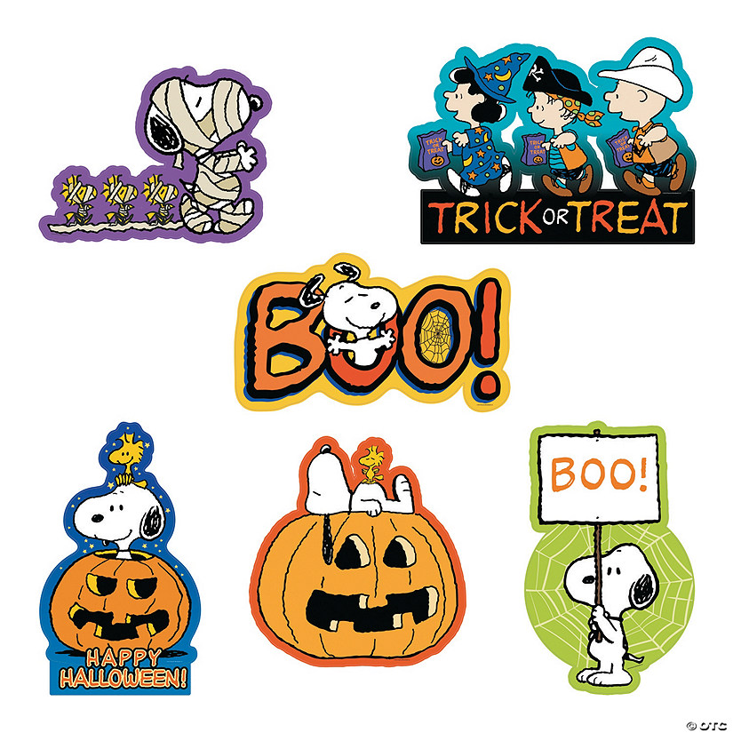 peanuts halloween cutouts