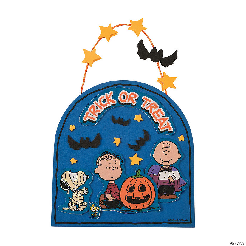 Peanuts® Halloween Sign Craft Kit Audio Thumbnail