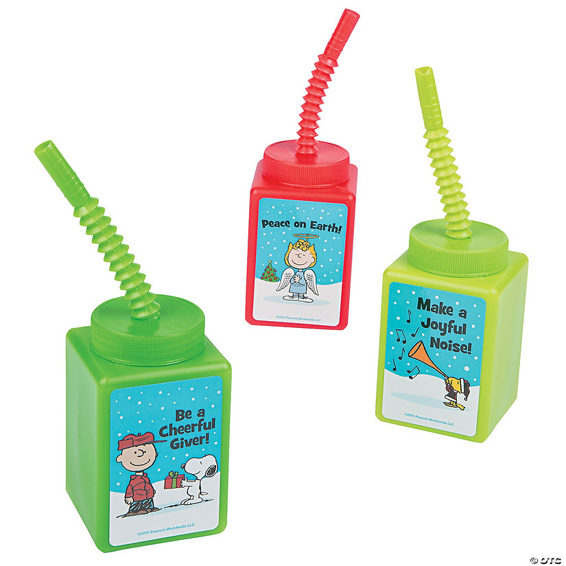 Peanuts® Inspirational Cups with Straws