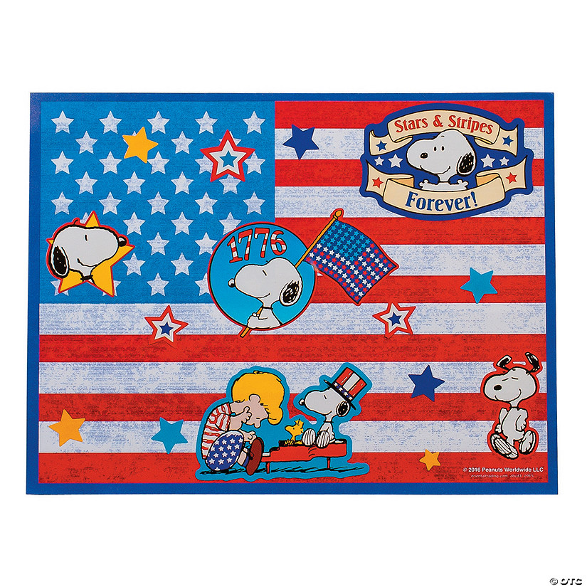 Peanuts® Patriotic Sticker Scenes Audio Thumbnail