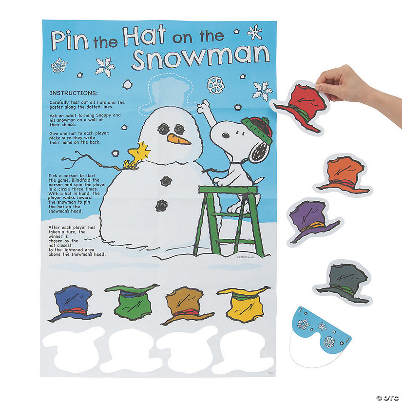 Peanuts<sup>&#174; </sup>Pin the Hat on the Snowman Game  Image Thumbnail