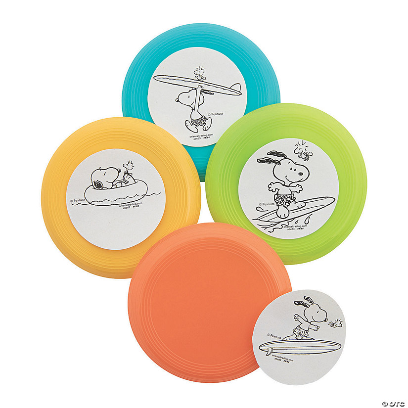Peanuts<sup>&#174;</sup> Color Your Own Summer Mini Flying Discs Image Thumbnail