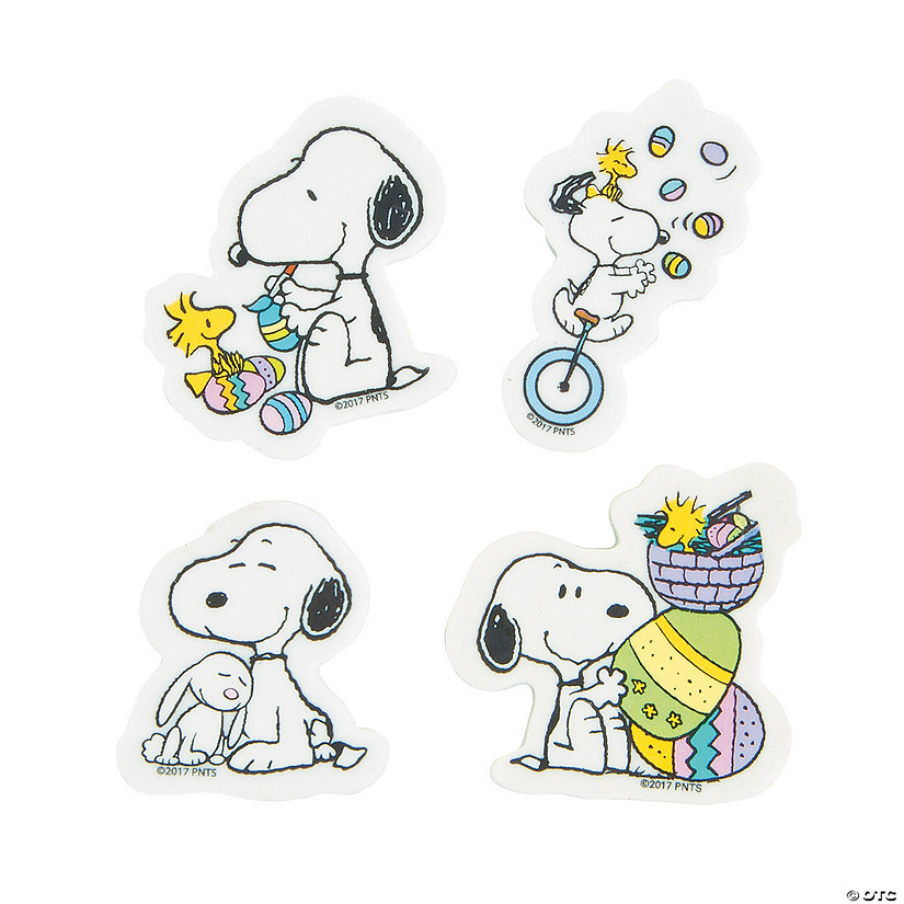 Peanuts<sup>&#174;</sup> Easter Erasers - 24 Pc. Audio Thumbnail
