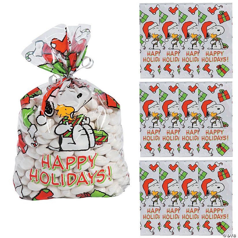 Christmas Cellophane Bags.Peanuts Christmas Cellophane Bags