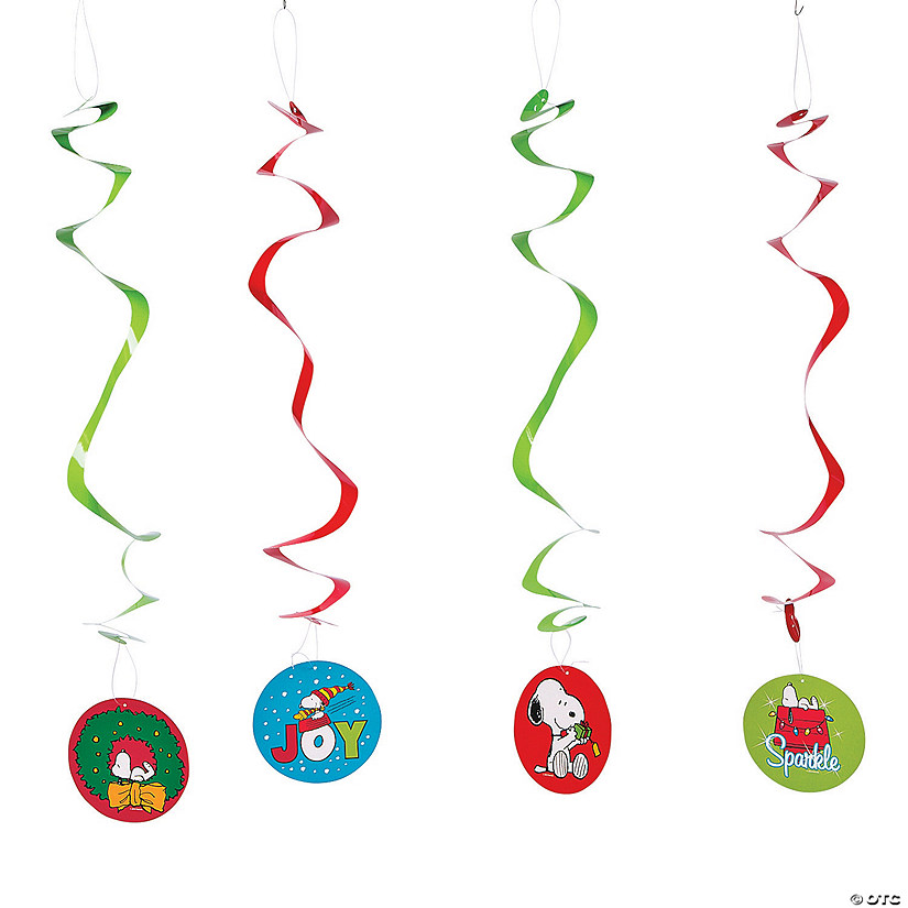 Peanuts<sup>&#174;</sup> Christmas Hanging Swirl Decorations - 12 Pc. Audio Thumbnail