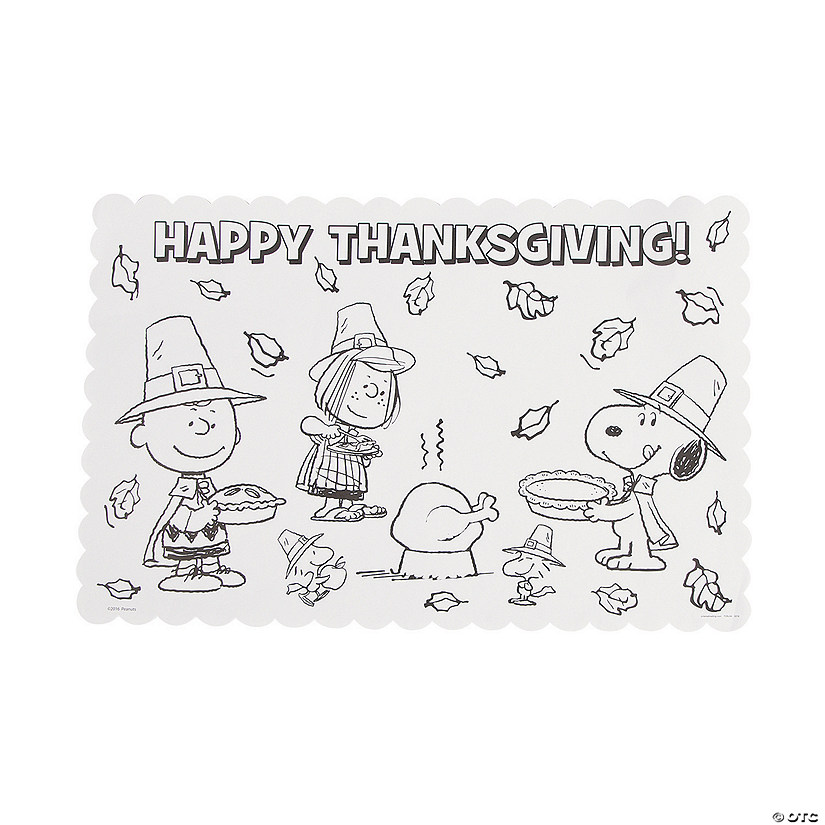 Peanuts<sup>&#174;</sup> Color Your Own Thanksgiving Placemats Audio Thumbnail