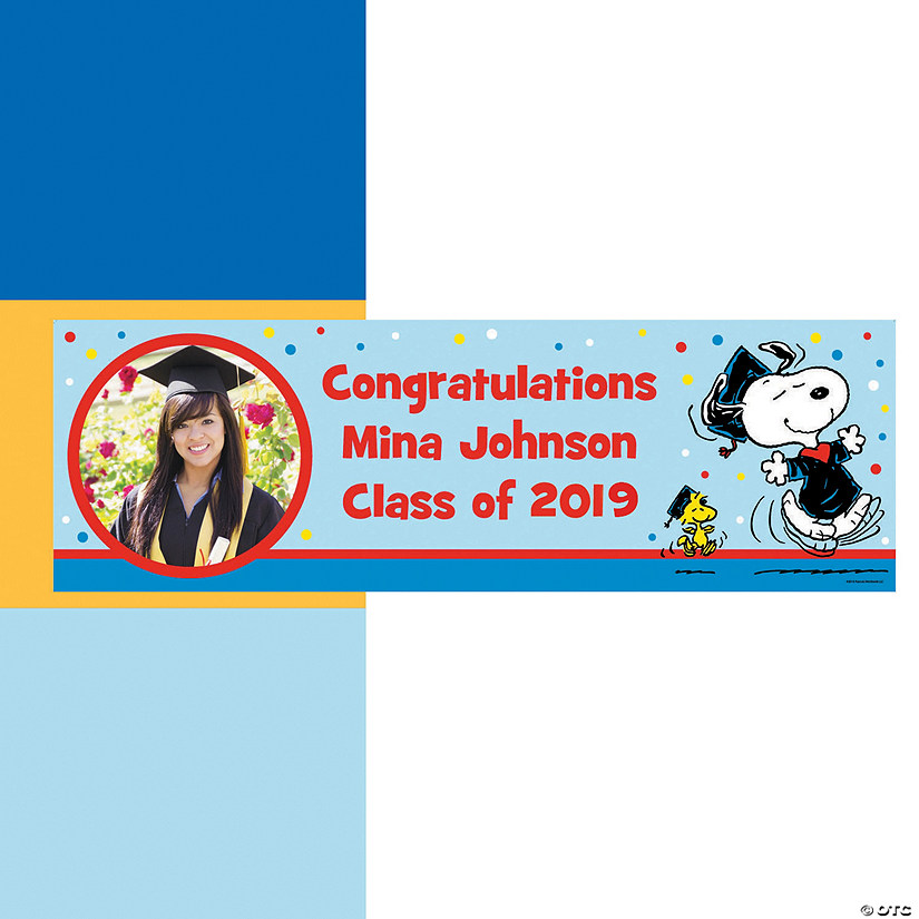 Peanuts<sup>&#174;</sup> Graduation Photo Custom Banner Audio Thumbnail