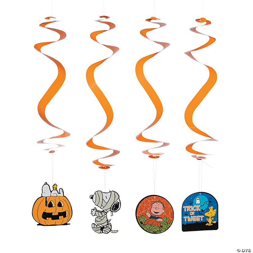 Peanuts<sup>&#174;</sup> Hanging Swirl Halloween Decorations - 12 Pc. Audio Thumbnail