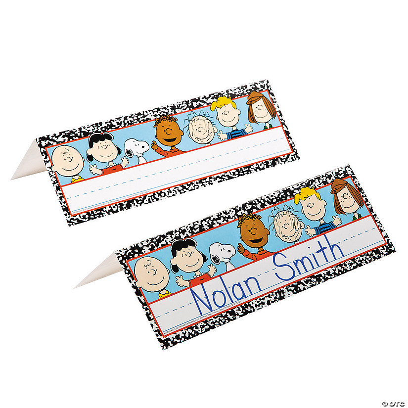 Peanuts® Tented Name Plates