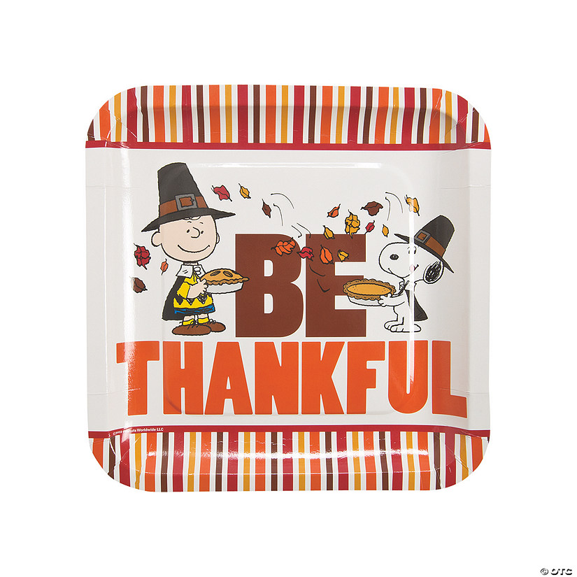 Peanuts® Thanksgiving Paper Dinner Plates Audio Thumbnail