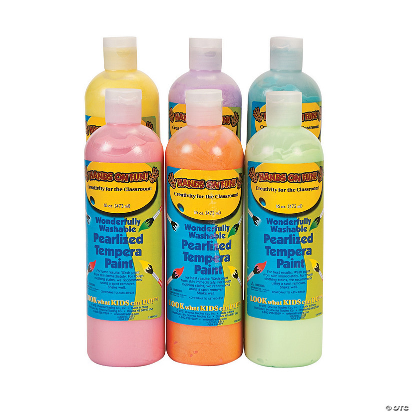 Pearlized Washable Tempera Paint