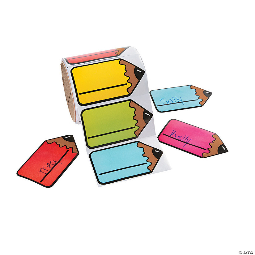 Pencil-Shaped Name Tags/Labels