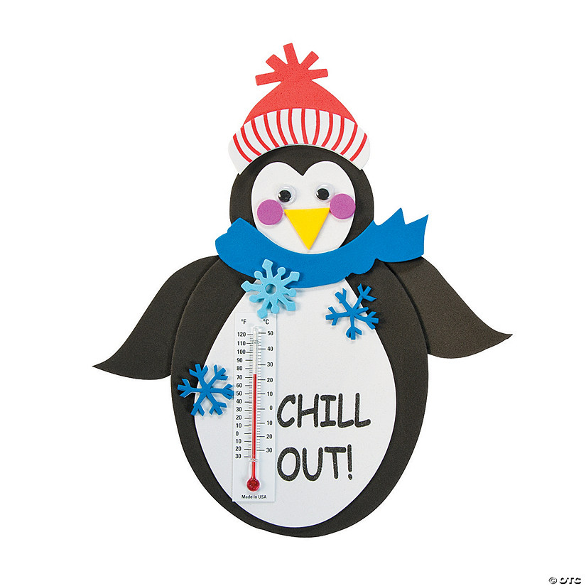 Penguin Thermometer Magnet Craft Kit Image Thumbnail