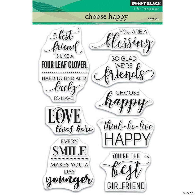 Penny Black Clear Stamps-Choose Happy