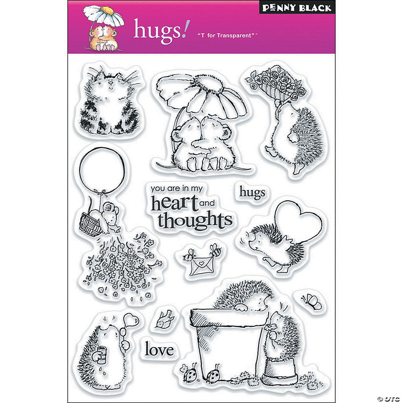 Penny Black Clear Stamps-Hugs