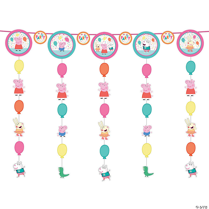 Peppa Pig™ Hanging Swirl Decorations - 12 Pc. Audio Thumbnail
