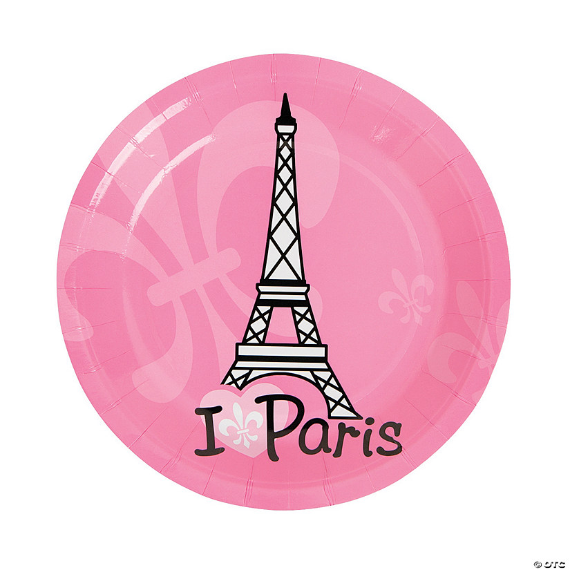 Perfectly Paris Paper Dessert Plates - 8 Ct. Image Thumbnail