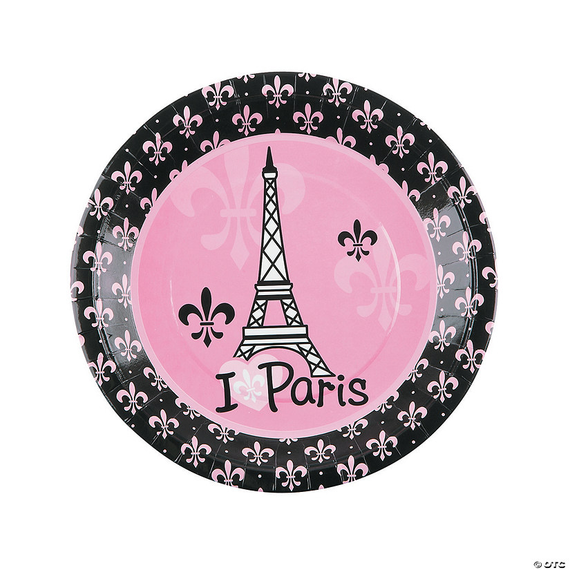 Perfectly Paris Paper Dinner Plates